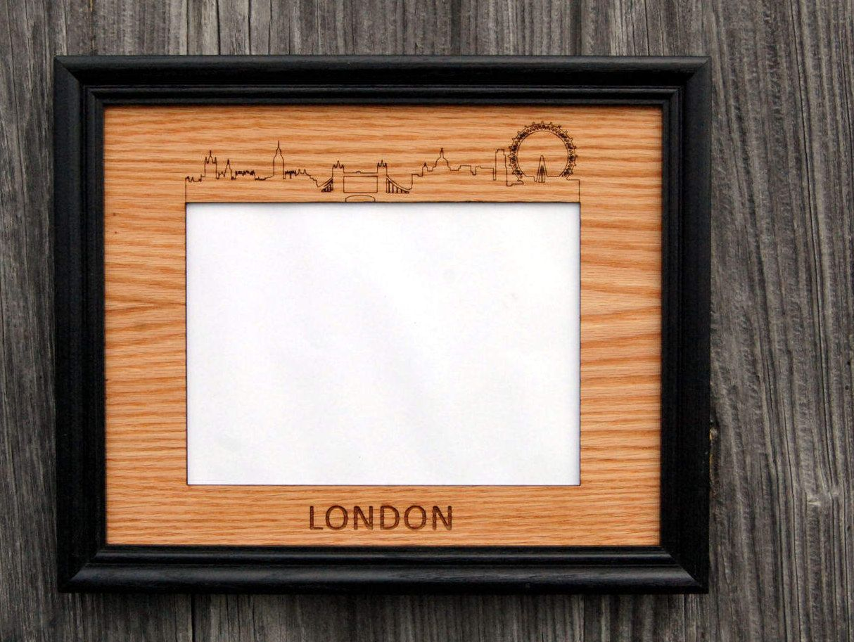 8x10 London Skyline Picture Frame Holds 5x7 Photo Skyline Picture Picture Frames London Skyline