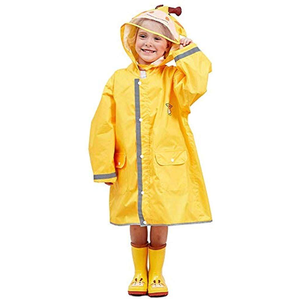 f894a38c9ff7f Enfants imperméable Veste imperméable Pluie Poncho à Capuche Veste Pluie  Cape Pluie pour garçons Filles #