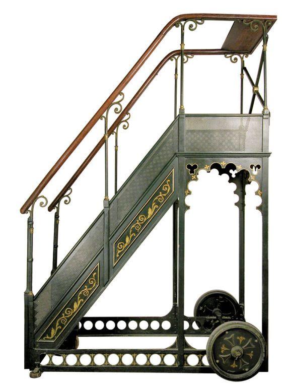 A Bernard Rolling Library Ladder 1stdibs Com Library Ladder Steampunk Furniture Steampunk House