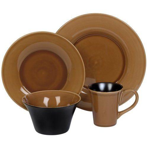 Corelle | Amazon.com Corelle Hearthstone Stoneware 16-Piece Dinnerware Set with .  sc 1 st  Pinterest & Corelle | Amazon.com: Corelle Hearthstone Stoneware 16-Piece ...