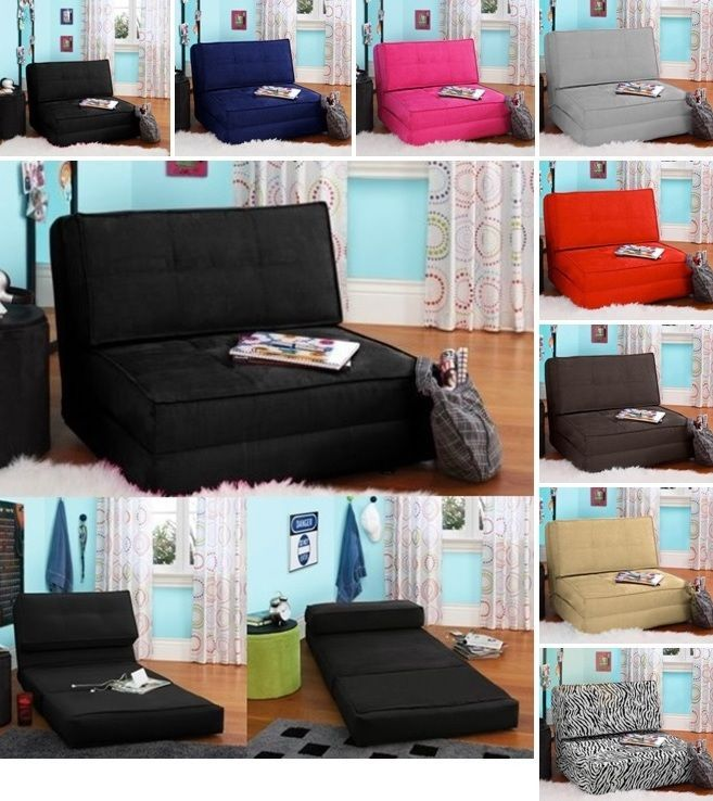 Details About Flip Chairs Folding Sleeper Your Lounge Bed Dorm