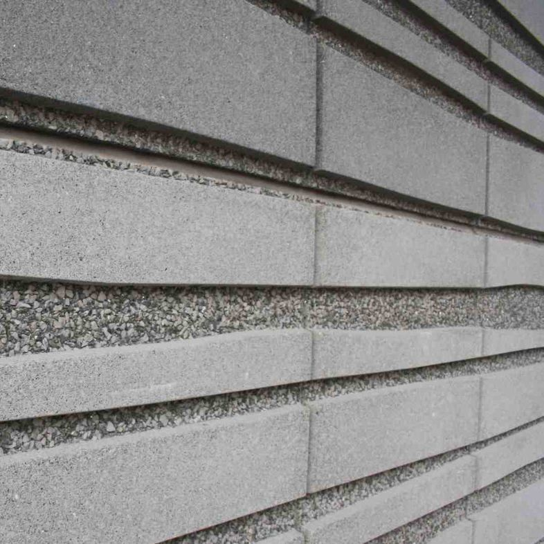 Precast Concrete Cladding Sheets : Precast concrete cladding sandblasted panel washed