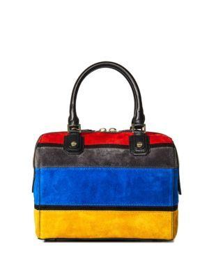 518a087e9216 ALICE AND OLIVIA Colorblock Suede Satchel.  aliceandolivia  bags  shoulder  bags  hand bags  satchel  suede