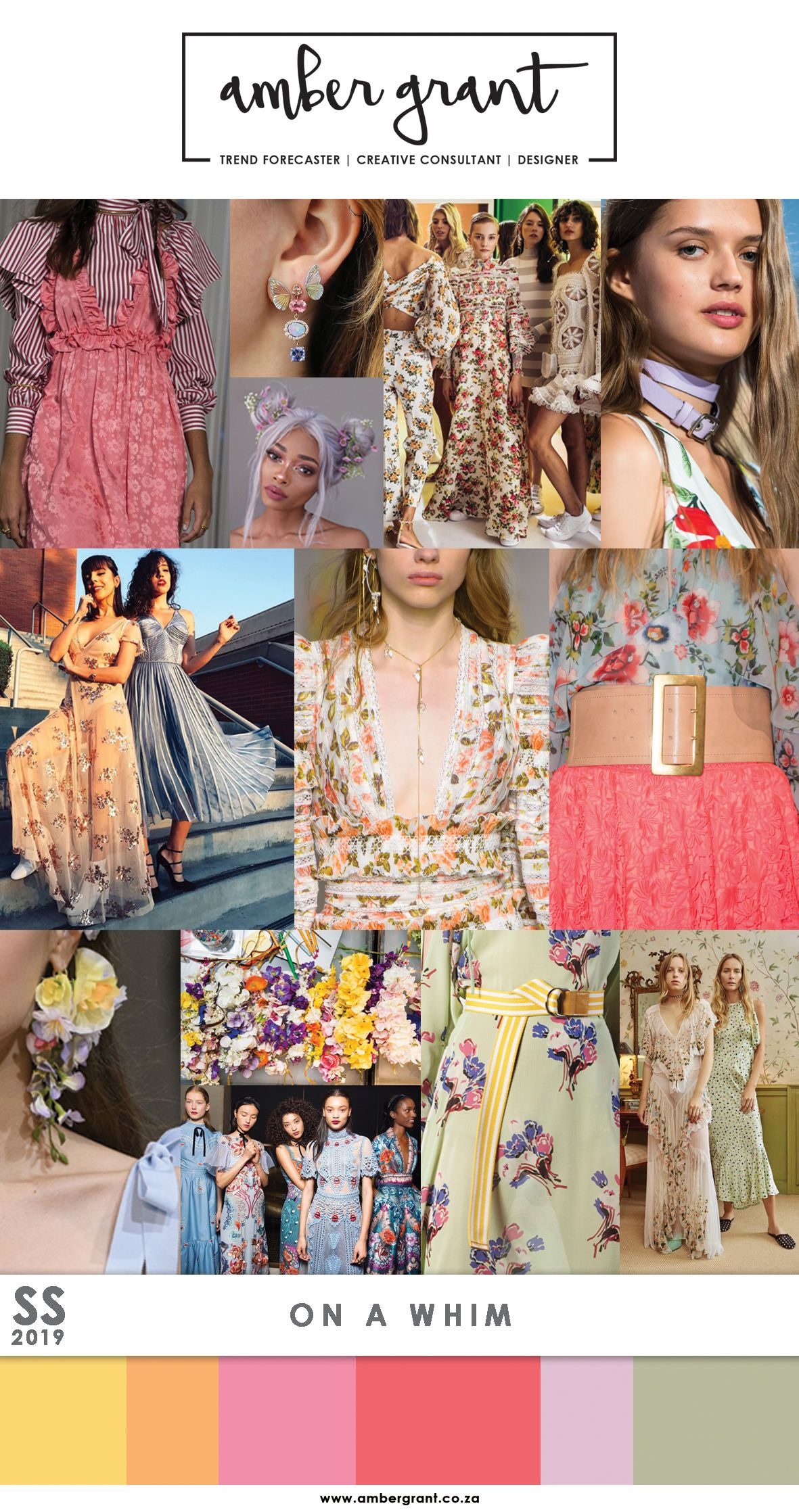 Ss19 Spring Summer 2019 Fashion Trends Colour Trends Pattern