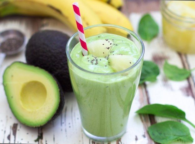 Avocado, Spinach & Pineapple Smoothiehttp://cookingstoned.tv/recipe/avocado-pineapple-smoothie/