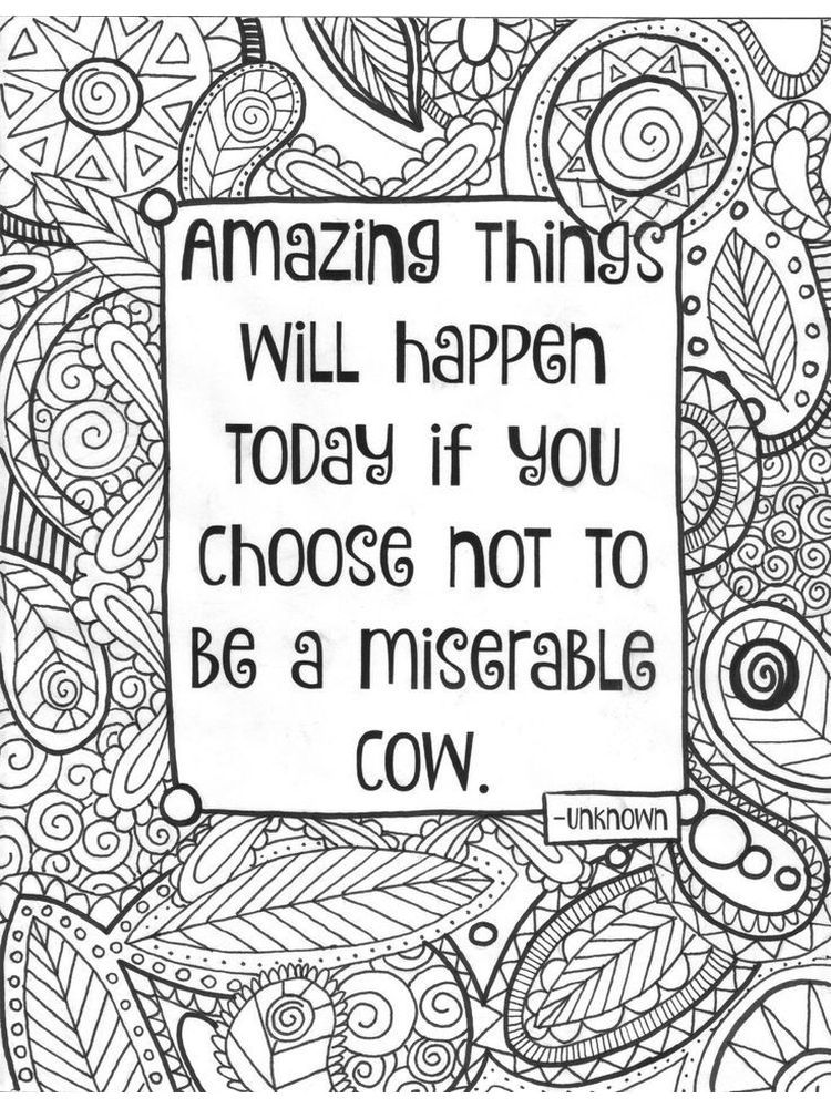 Quote Coloring Page Generator In 2020 Coloring Pages Inspirational Quote Coloring Pages Cow Coloring Pages