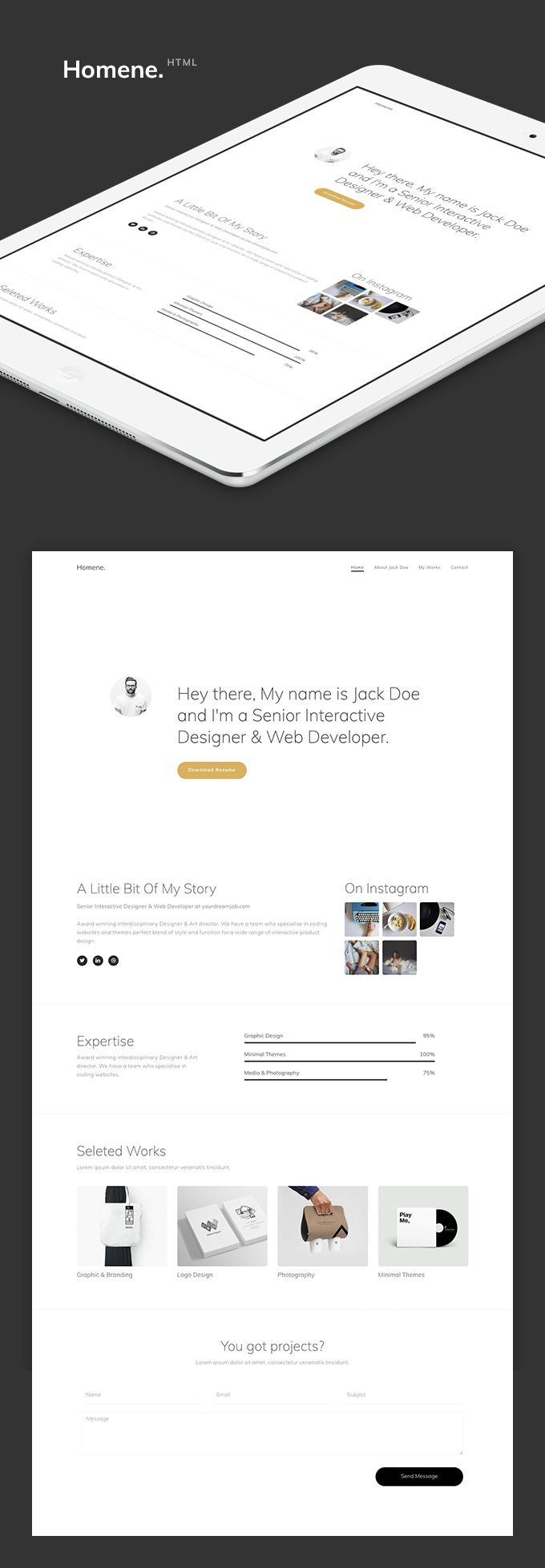 Elegance – Responsive One Page HTML Template. http ...