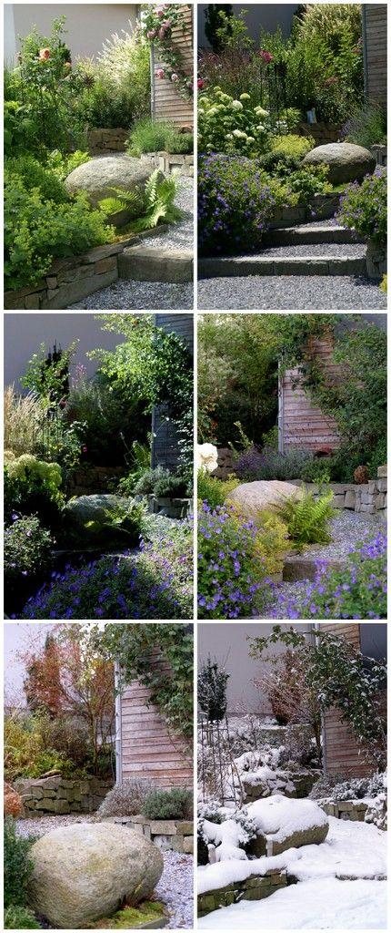 ein schweizer garten jahreszeiten vergleich im vorgarten garden garden garden paths et. Black Bedroom Furniture Sets. Home Design Ideas