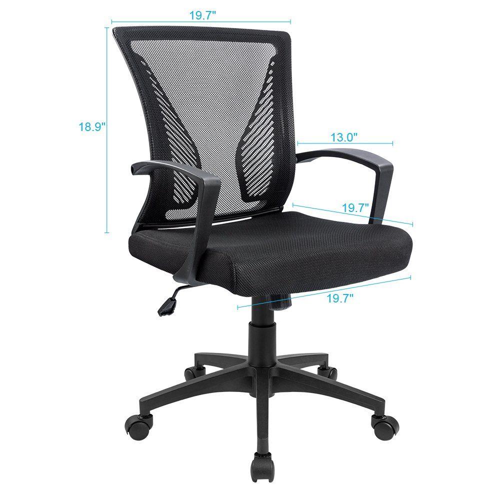 Furmax office chair mid back swivel lumbar support desk