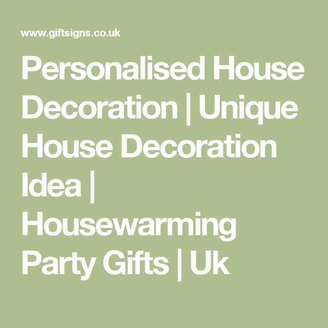 personalised house decoration unique house decoration idea housewarming party gifts uk - Unique House Gifts