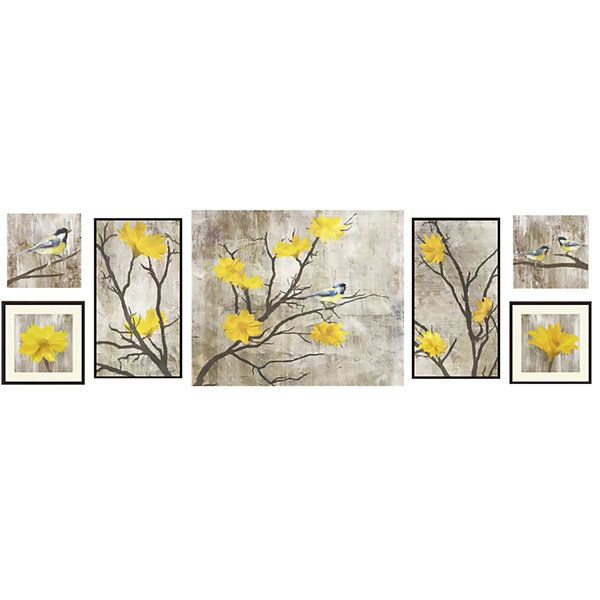 Yellow Botanical 7 Pc Wall Decor Set
