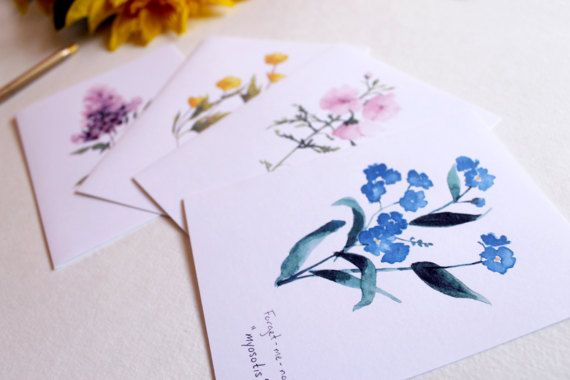 Floral Cards Wildflower Cards Blank Cards Notecard Set
