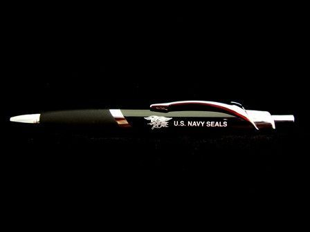 US Navy SEAL Pen with Trident in Silver