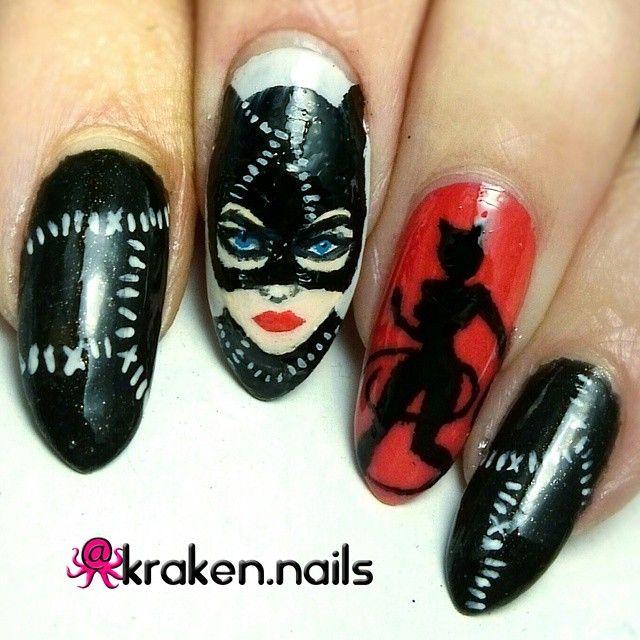 Catwoman Nail Art Nails Pinterest