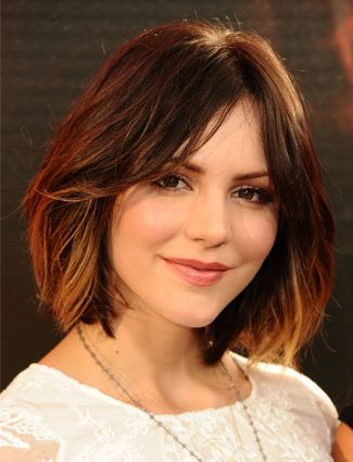 Katharine McPhee - ombre bob + medium length hair