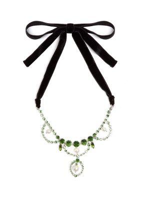 Crystal-embellished necklace Miu Miu GewUOqApZQ