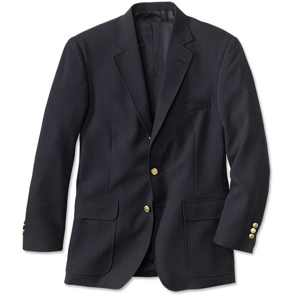 Traveler's Hopsack Blazer / Regular (€265) ❤ liked on Polyvore featuring men's fashion, men's clothing, men's sportcoats, navy and mens sports apparel