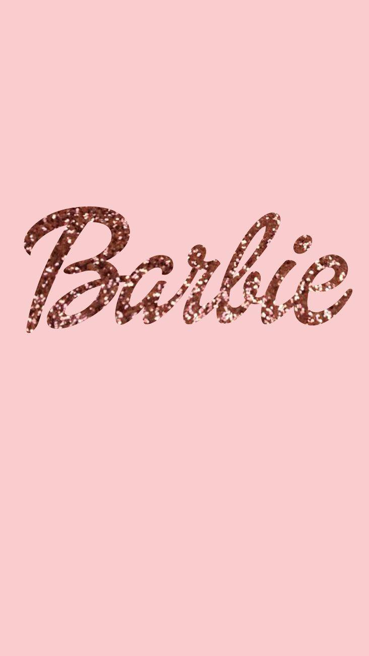 Barbie Wallpaper Glitters Rose Gold Phone Sonicka Glammy