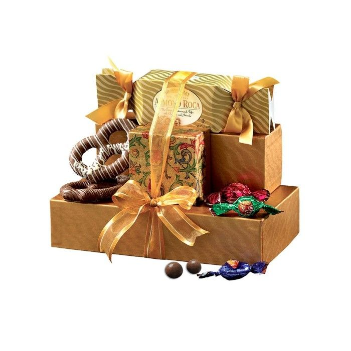 Easy Gift Ideas For Teachers Under 15 Gift Towers Gourmet Gifts Chocolate Gifts Basket