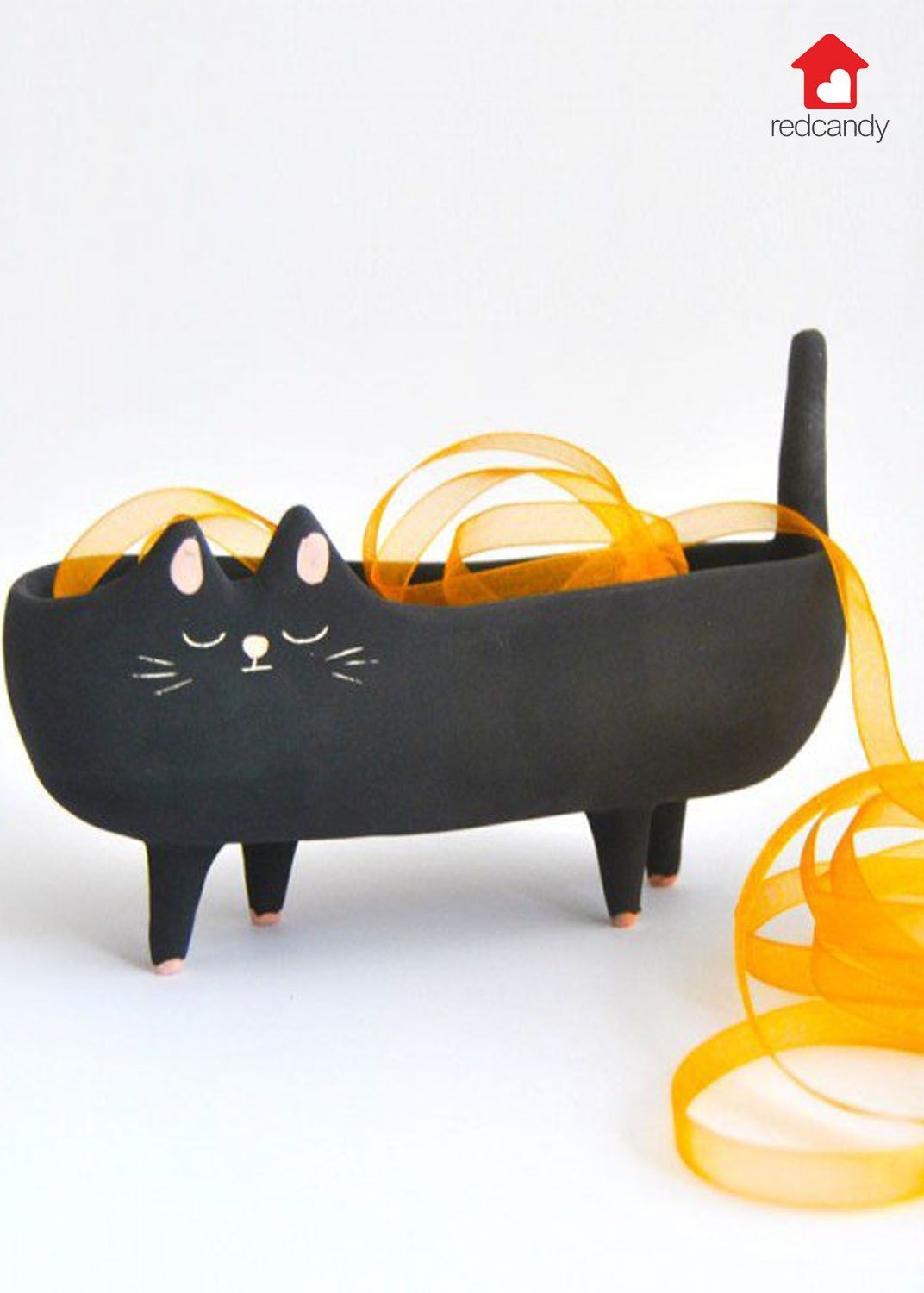 Bianca the Black Cat Planter Household plants, Cats