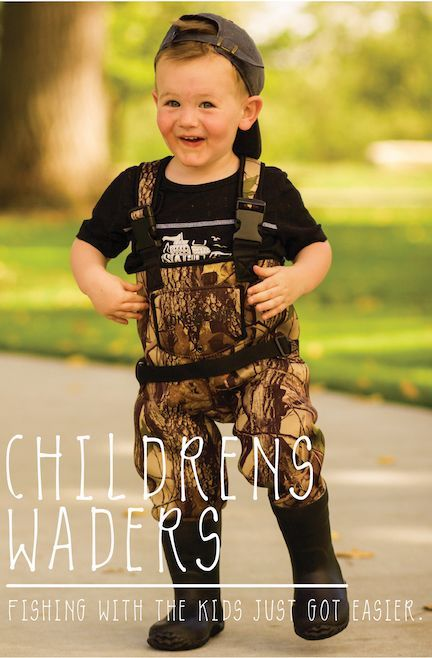 Ready To Take The Kiddos Fishing This Coming Year Pick Up Some Kid Sized Waders Made By Lonecone Com A Baby Stuff Country Country Baby Boy Cute Baby Clothes