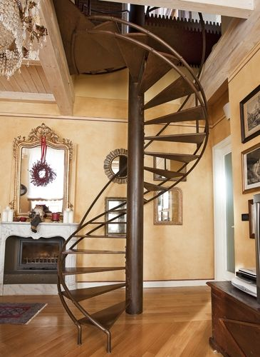 Best Pin By Rachel Gregory On Someday Spaces Stairs Spiral 640 x 480
