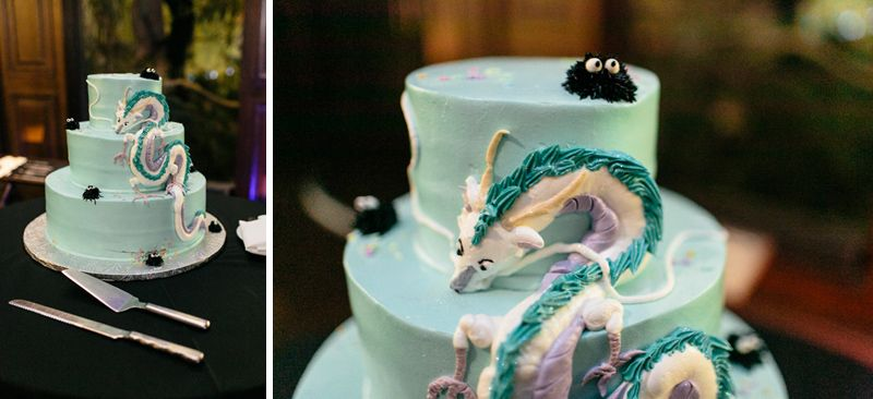 Spirited Away wedding cake couple got married at the Los Angeles