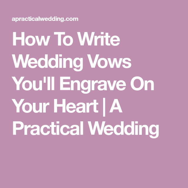 The Best Real Wedding Vows (To Steal)