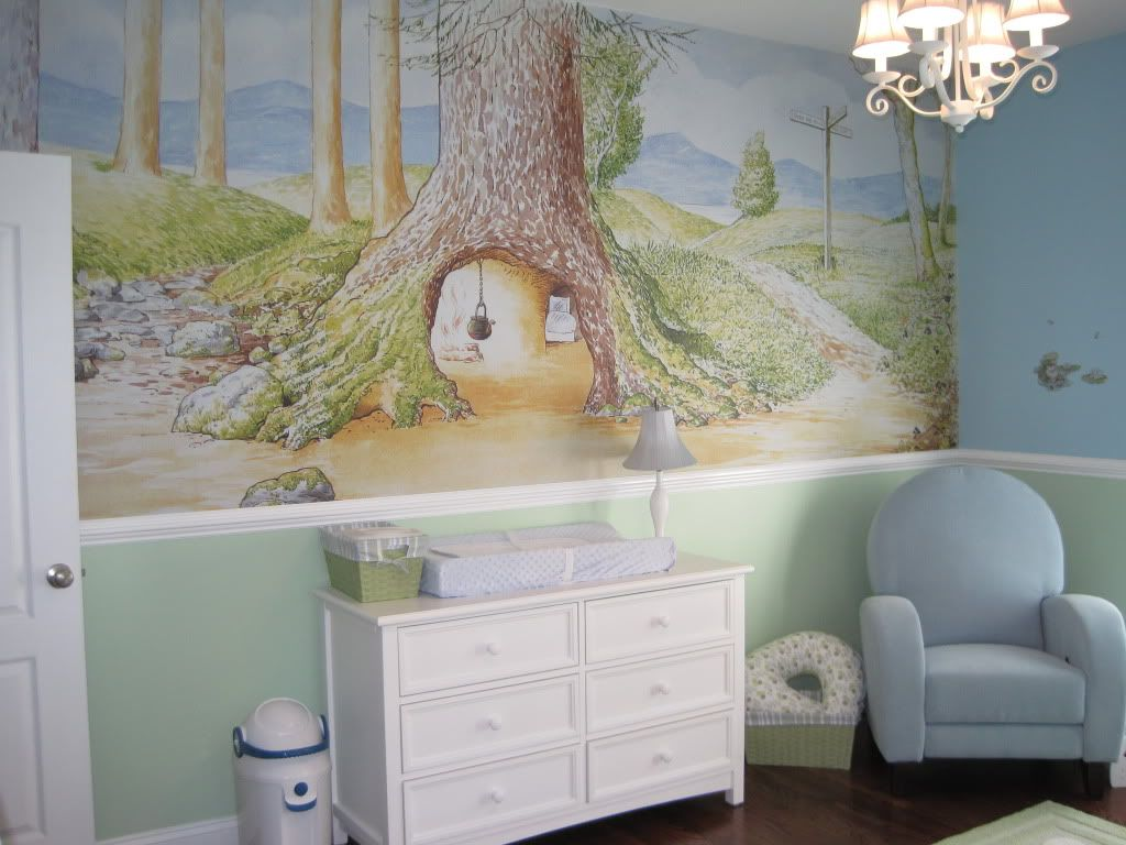 Pregnancy message boards baby forums nursery crib and for Beatrix potter wall mural