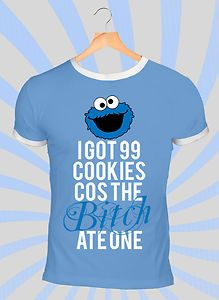 Cookie monster sesame street t shirt 99 problems jayz blueprint 3 cookie monster sesame street t shirt 99 problems jayz blueprint 3 kanye malvernweather Choice Image
