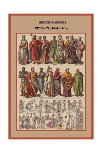 Art Print: Angles and Saxons XIII on the British Isles by Friedrich Hottenroth : 24x16in #britishisles