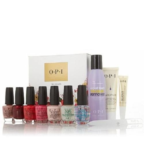 Pink, coral, nude, red ... every color-savvy manicure maven needs to have the greats at hand! With five of OPI's most beloved lacquers and a full range of nail and hand care products, you'll be able to achieve a flawless finish every time. Nailed it!   eBay item number:151715706534.  http://www.ebay.com/itm/NEW-OPI-5-Lacquer-6-Nail-Care-Set-Bubble-Bath-Cajun-Shrimp-Dulce-De-Leche-/151715706534?hash=item2352f5f6a6:g:6KkAAOSw3xJVf4sQ#ht_955wt_1153