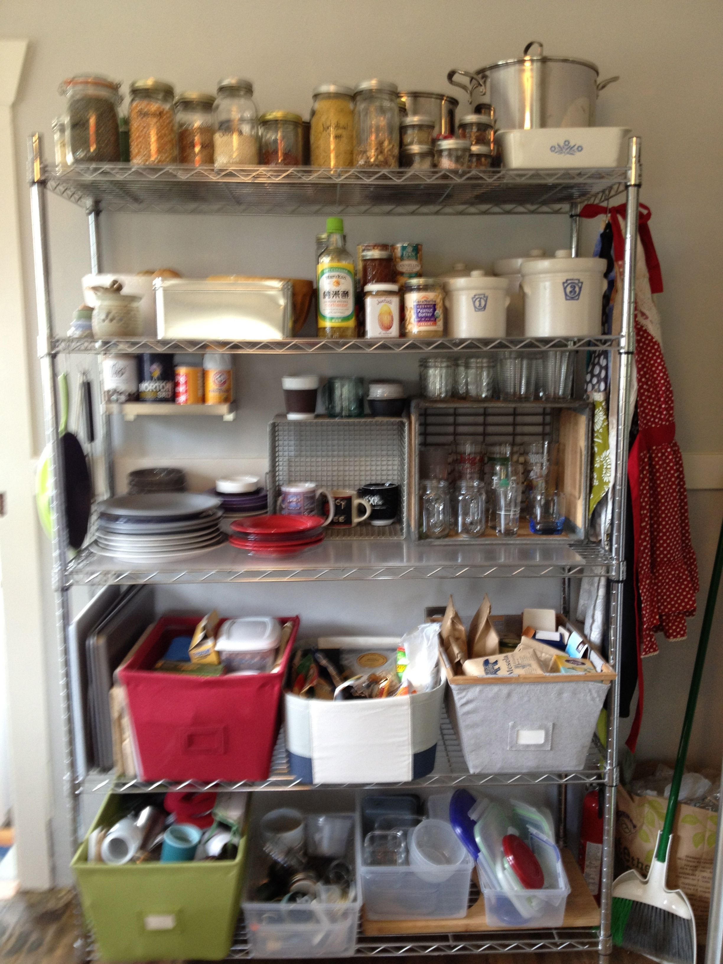 38 Creative Storage Solutions For Small Spaces Awesome Diy Ideas Kitchen Without Pantry No Pantry Solutions Storage Solutions Diy