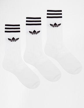 d4e57cc2a adidas Originals Solid Crew 3 Pack Socks S21489 | Wish | Adidas men ...