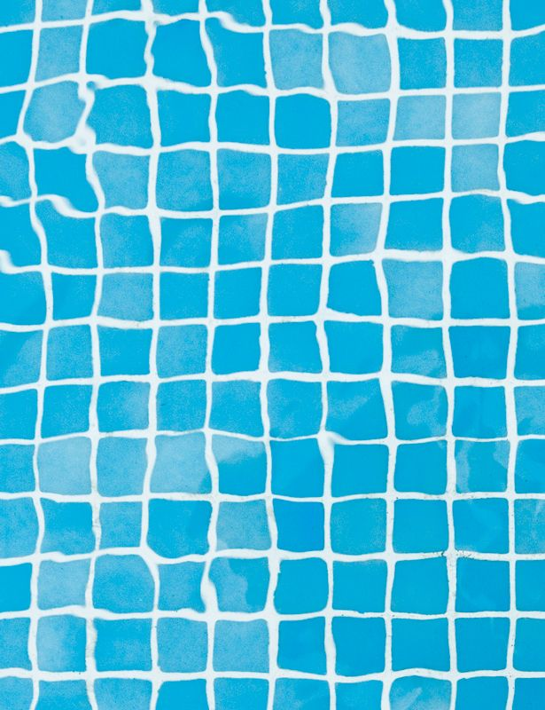 Color azul blue warped grid floor of swimming pool for Pool design pattern
