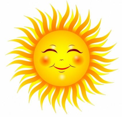smiling sun free vector 2 11mb decorations pinterest rh pinterest com Happy Sun Clip Art Happy Sun Clip Art