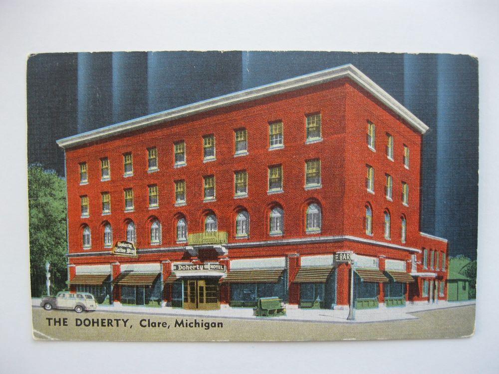 Vintage Postcard Nice The Doherty Hotel Clare 1900 S Mi Mich Michigan C4