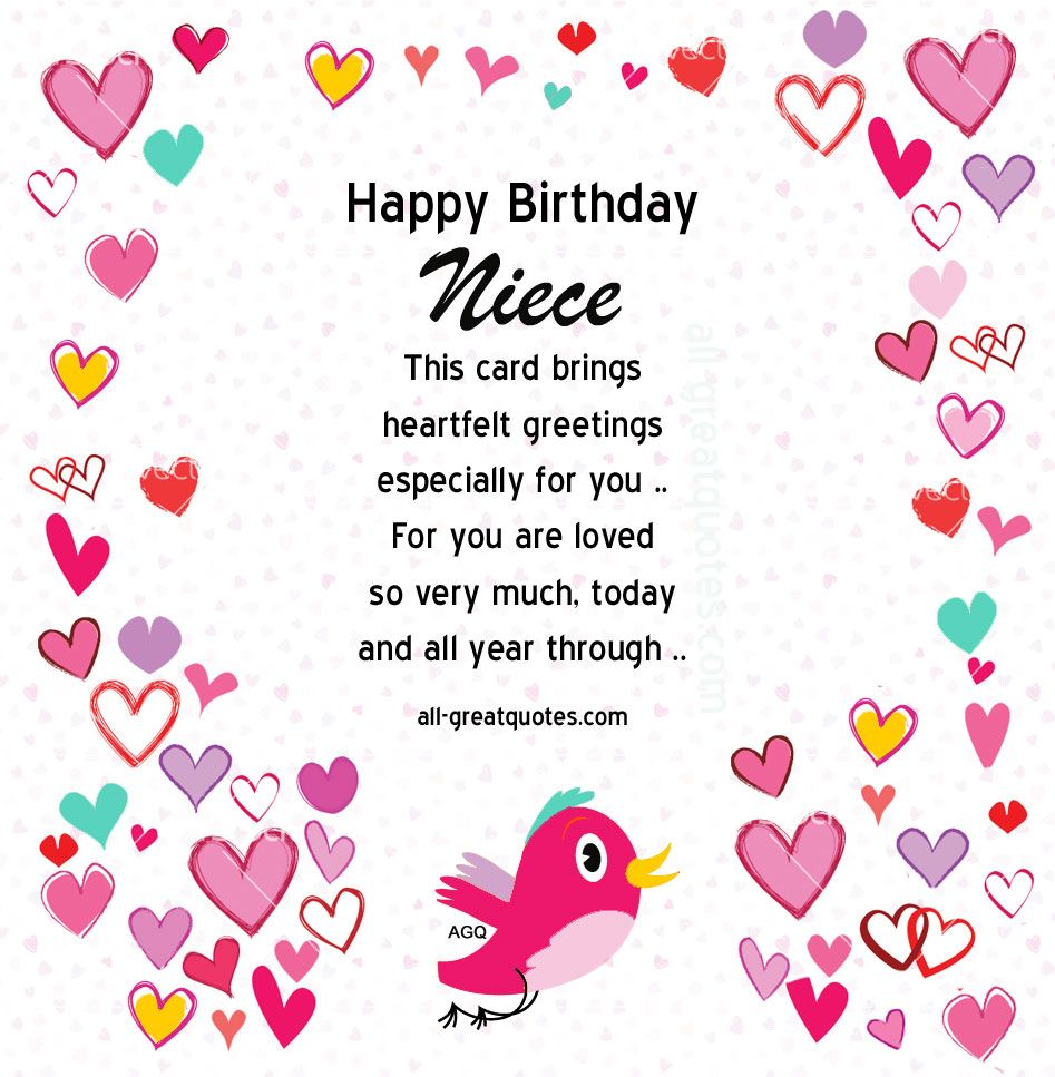 Free birthday cards for niece on facebook free birthday card happy birthday card for niece bookmarktalkfo Image collections