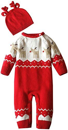 d6a9c4c0b ZOEREA Baby Infant Romper Sweater Christmas Knitted Clothes Match ...