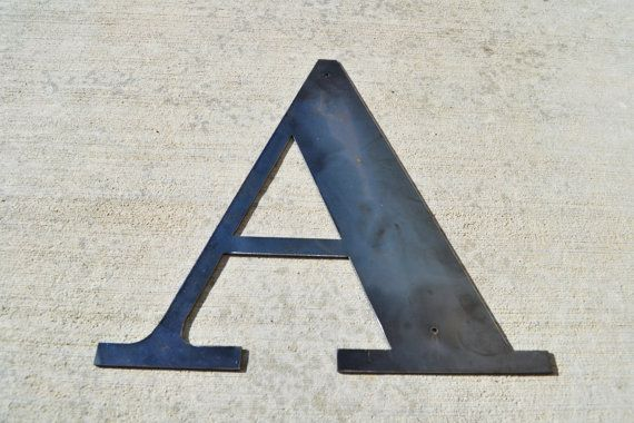 Raw Metal Letter 18 Inch Tall By Heavymetals123 On Etsy 32 00