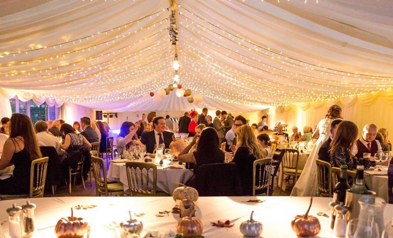 Inside wedding decoration ideas  Winter weddings  crisp morning air guests getting warm and cosy