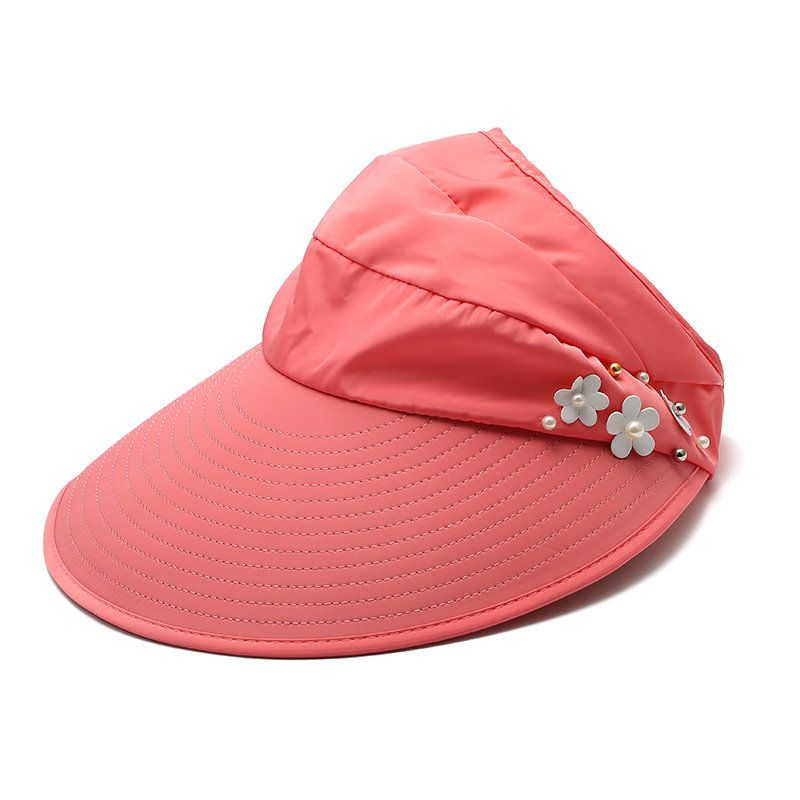 9cc627833b06b Women Ladies Summer Outdoor Anti-UV Beach Sunscreen Sun Hat Flower ...