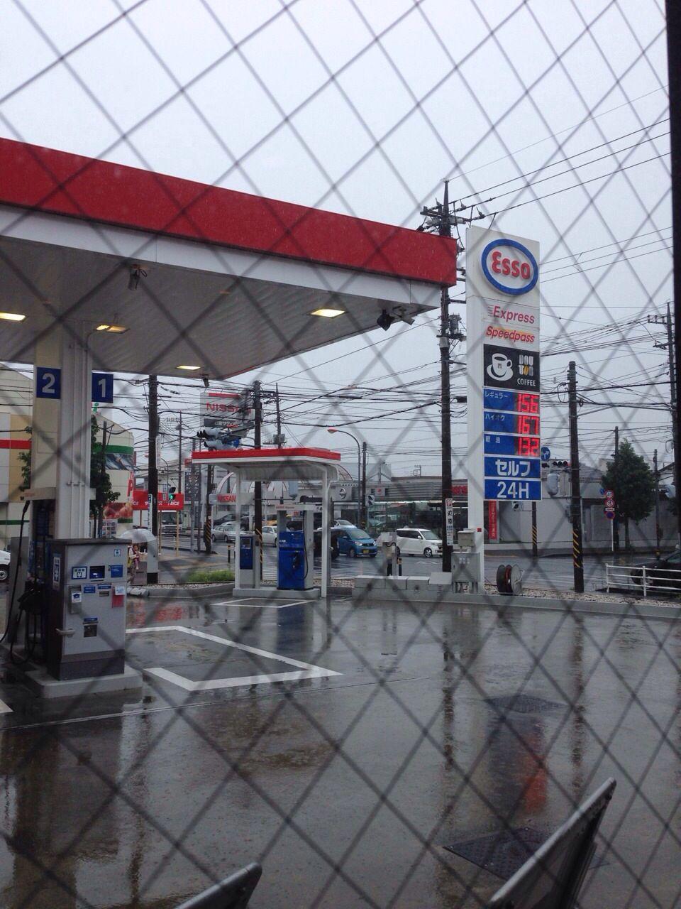 ガソリンスタンドと雨空☔️BRAIDART 西村英哲 (  Hidenori  Nisimura  )