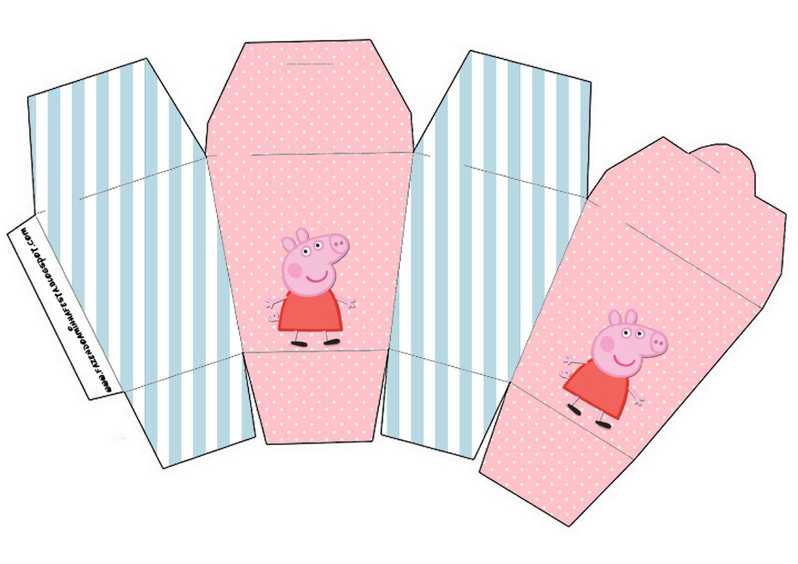 peppa pig free printable party boxes charlotte u0027s 3rd birthday