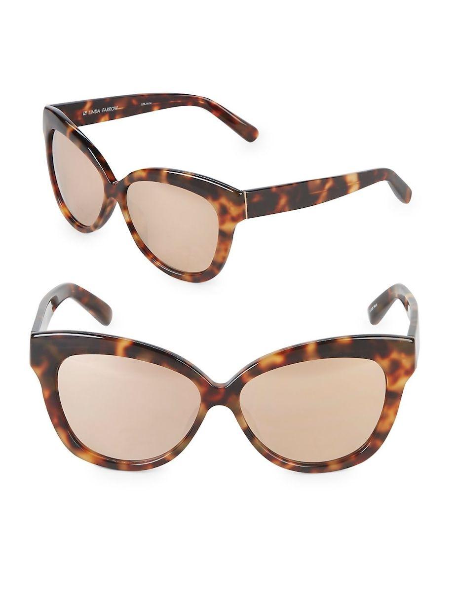 90c160ffbe4 Linda Farrow Luxe 61MM Cat-Eye Sunglasses