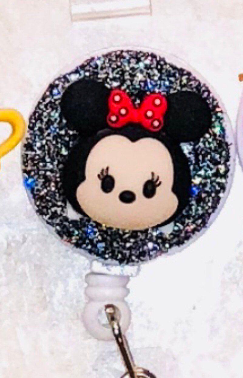 Disney Tsum Tsum Reel retractable clip badge Pediatric Nurse Work ID holder