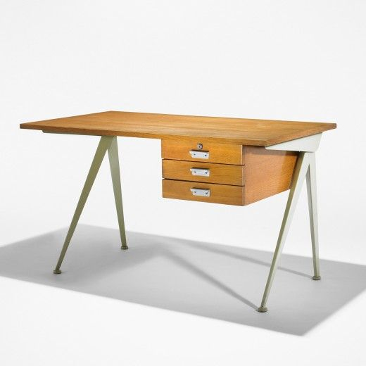 Compass Desk Manufactured By Les Ateliers Jean Prouve And