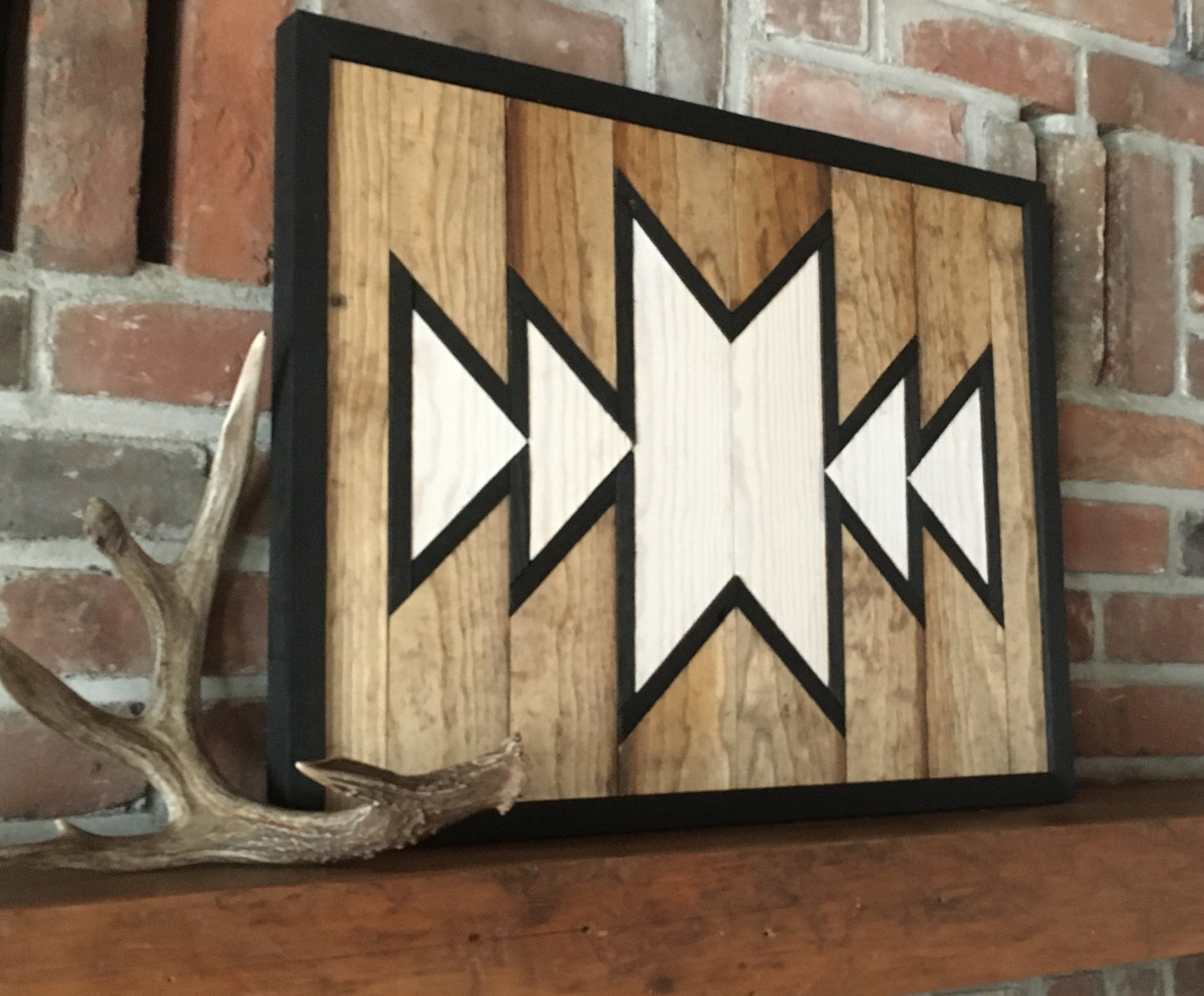 Reclaimed Wood Wall Art Southwest Wood Wall Art Aztec
