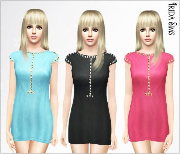 Dress decorated with studs at Irida Sims Sims 3 Finds