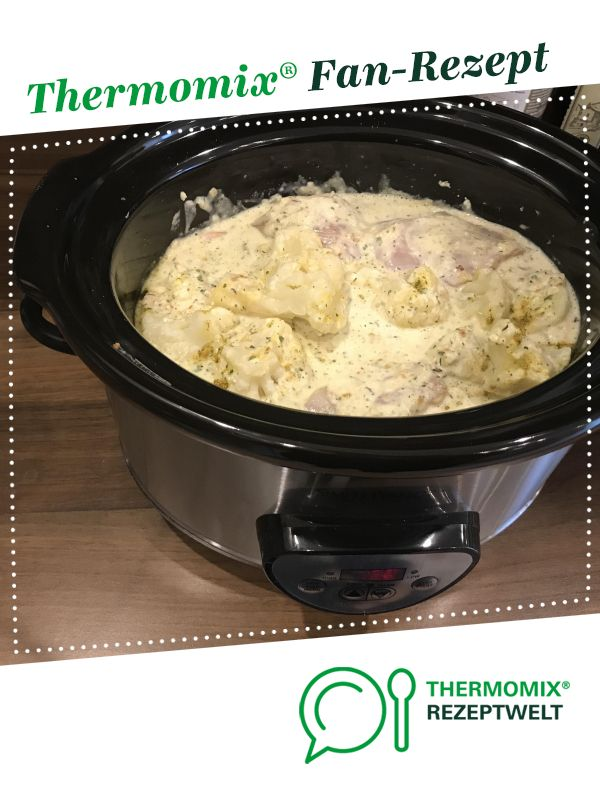 Zwiebel-Sahne-Hähnchen Crockpot und WW von ThermoTrici. Ein Thermomix Rezept aus der Kategorie Hauptgerichte mit Fleisch auf www.rezeptwelt.de, der Thermomix Community.